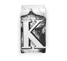 Renaissance Alphabet Letter K Duvet Cover