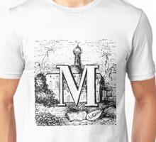 Renaissance Alphabet Letter M Unisex T-Shirt