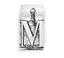 Renaissance Alphabet Letter M Duvet Cover