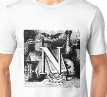 Renaissance Alphabet Letter N Unisex T-Shirt