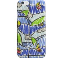 """Drawing: """"Sail III (2011)"""" by artcollect iPhone Case/Skin"""