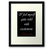Wild With Excitement Framed Print