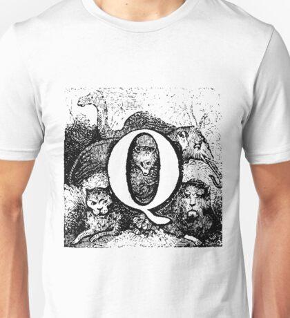 Renaissance Alphabet Letter Q Unisex T-Shirt
