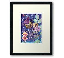 Rainbow Knitting Fairy Framed Print