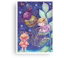Rainbow Knitting Fairy Canvas Print