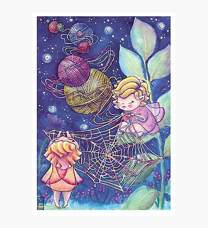 Rainbow Knitting Fairy Photographic Print