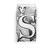Renaissance Alphabet Letter S Duvet Cover