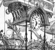 Aircraft Station at Notre-Dame – Le Vingtième Siècle (Robida, Albert) Sticker