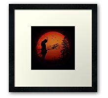 My Love Japan / Samurai warrior / Ninja / Katana Framed Print