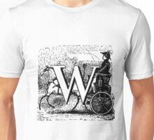 Renaissance Alphabet Letter W Unisex T-Shirt