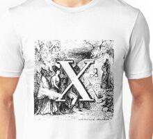 Renaissance Alphabet Letter X Unisex T-Shirt