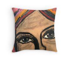 Pop Art Portrait Street Art Throw Pillow