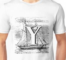 Renaissance Alphabet Letter Y Unisex T-Shirt