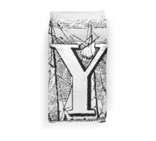 Renaissance Alphabet Letter Y Duvet Cover