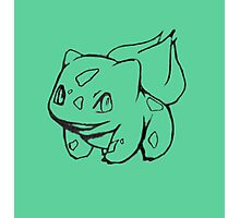 Bulbasaur Sketch Photographic Print