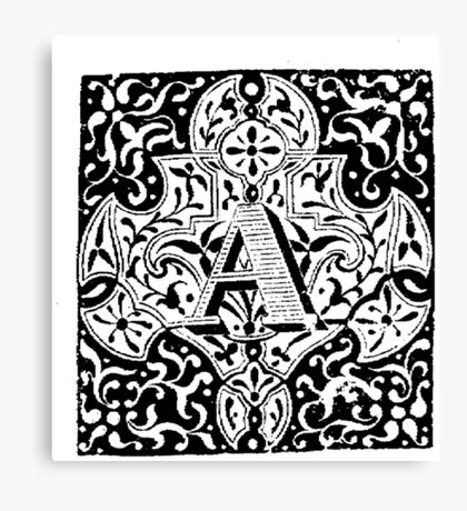 Small Cap Letter A Canvas Print