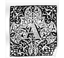 Small Cap Letter A Poster