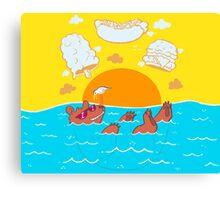 Summer Soak Canvas Print