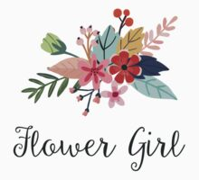 Floral Bouquet Flower Girl Baby Tee