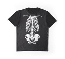Halloween Skeleton Rib Cage and Pelvis  Graphic T-Shirt