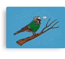 Annoyed IL Birds: The Sparrow Canvas Print