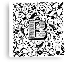 Small Cap Letter B Canvas Print