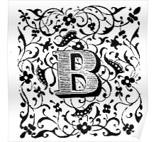 Small Cap Letter B Poster