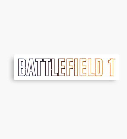BattleField 1 Canvas Print