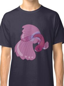 Purple, Gold and Blue Betta Fighting Fish  Classic T-Shirt
