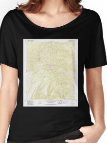 USGS TOPO Map Arizona AZ Willow Mtn 314129 1967 24000 Women's Relaxed Fit T-Shirt