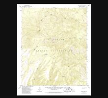 USGS TOPO Map Arizona AZ Willow Mtn 314129 1967 24000 Unisex T-Shirt