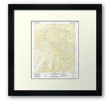 USGS TOPO Map Arizona AZ Willow Mtn 314129 1967 24000 Framed Print