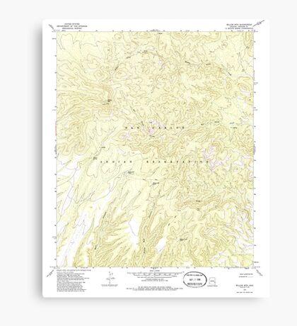 USGS TOPO Map Arizona AZ Willow Mtn 314129 1967 24000 Canvas Print