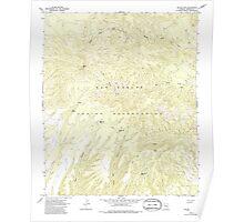 USGS TOPO Map Arizona AZ Willow Mtn 314129 1967 24000 Poster