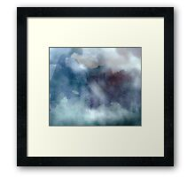 Into the Mist, watercolor Framed Print