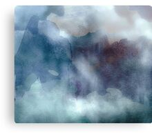 Into the Mist, watercolor Canvas Print