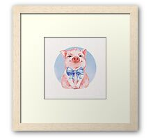 Happy Pig Framed Print