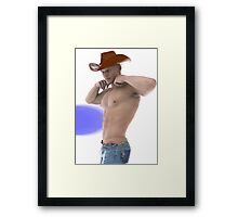 Strong willed cowboy Framed Print