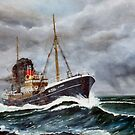 Gun running trawler WW2 by Woodie