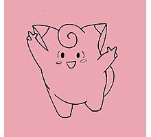 Clefairy Sketch Photographic Print