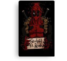 Deadpool For President Canvas Print