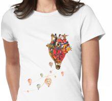 Brazilian Heart Womens Fitted T-Shirt