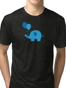 Sweet Funny Baby Elephant with Balloons Tri-blend T-Shirt