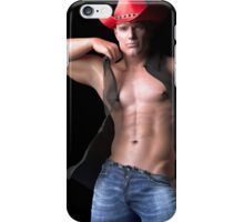 Cleft Chin Cowboy iPhone Case/Skin