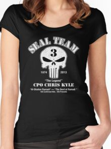 American Sniper Chris Kyle Punisher Women's Fitted Scoop T-Shirt