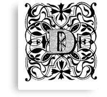 Small Cap Letter D Canvas Print