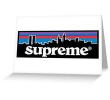 Supreme X Patagonia Logo Greeting Card