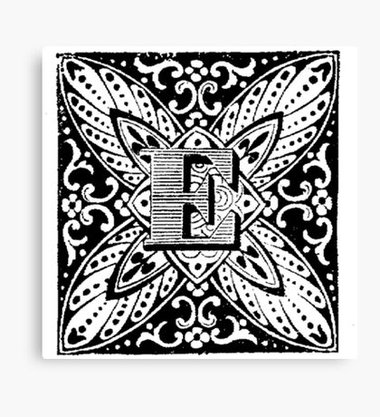 Small Cap Letter E Canvas Print