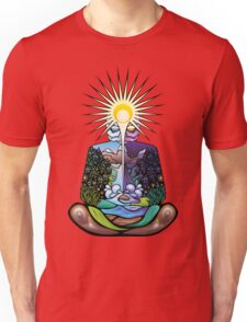 Psychedelic meditating Nature-man Unisex T-Shirt