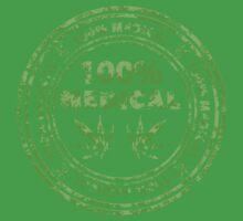 100% Medical Marijuana Stamp Kids Tee
